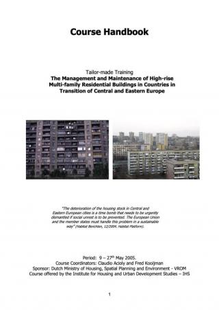 The Management and Maintenance of High-rise Multi-family Residential Buildings in Countries in the Transition of Central and Eastern Europe - Course…