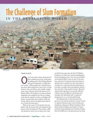 The Challenge of Slum Formation in the Developing World - 2007