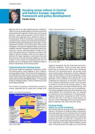 Housing sector reform in Central and Eastern Europe: regulatory framework and policy development - 2010
