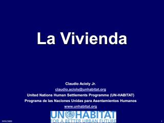 La Vivienda - Mexico Housing Congress - Spanish - 2013