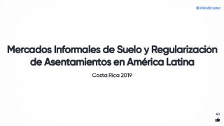 Quiz and Answers - Mercados Informales de Suelo y Regularización de Asentamientos en América Latina - Spanish - 2019