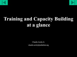 Training and Capacity Building at a glance - 2016