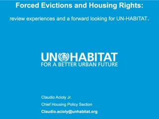 Housing Course - 9 - Forced Evictions and Housing Rights - 2018