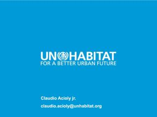 Propositions of UN-Habitat - 2016