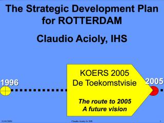 The Strategic Development Plan for Rotterdam - Koers 2005 - 2001