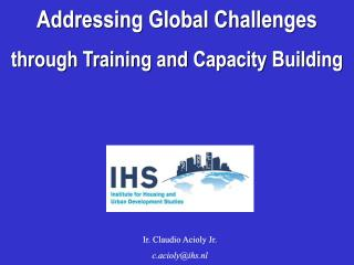 Addressing Global Challenges through Training and Capacity Building - 2004