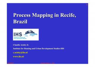 Process Mapping in Recife, Brazil - 2006