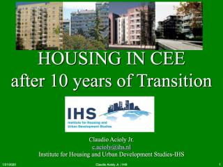 Housing in CEE - after 10 years of Transition - 2006