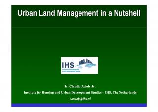 Urban Land Management in a Nuthsell - Introduction - 2007