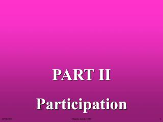 Participation - Actors and Interests - 2007