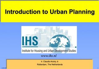 Introduction to Urban Planning - 2001