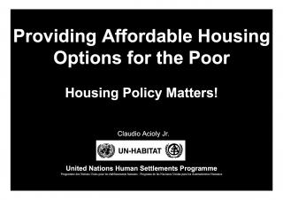 Providing Affordable Housing Options for the Poor - Housing Policy Matters! - Malawi Profiling - 2008