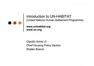 Introduction to UN-Habitat - 2008